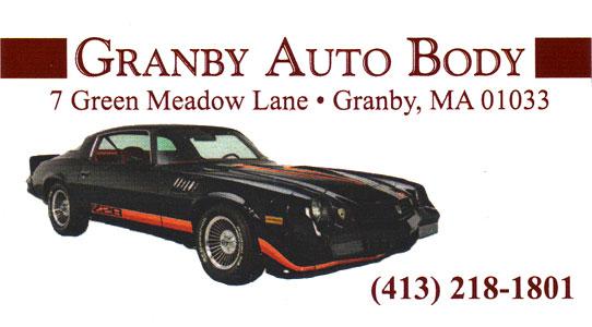 Granby Auto Body 7 Green Meadow Lane Granby, MA 01033 413-218-1801